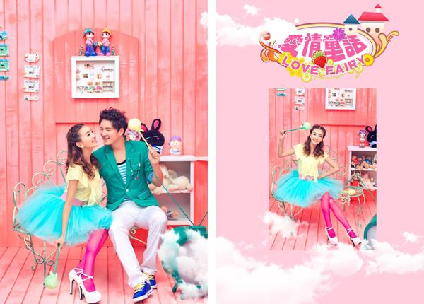 爱情童话里的欢乐时光 粉色系实景摄影作品