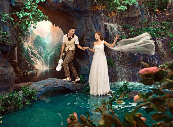 【影楼实景】维多利亚瀑布:真实自然的山水风情实景