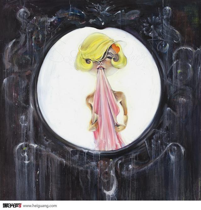 镜子插画手绘图
