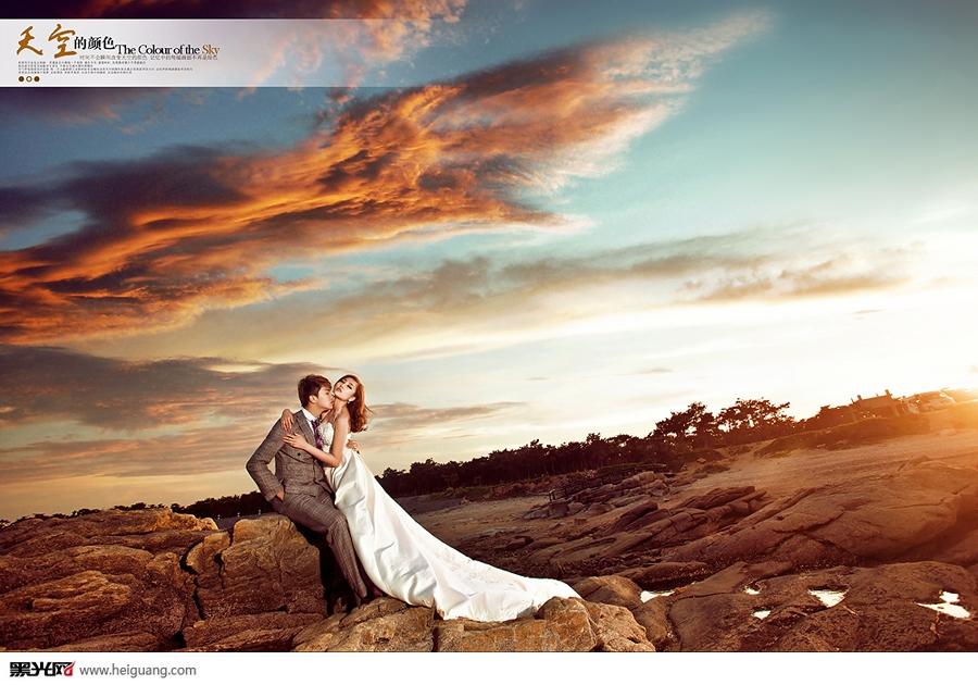 天空的颜色婚纱摄影