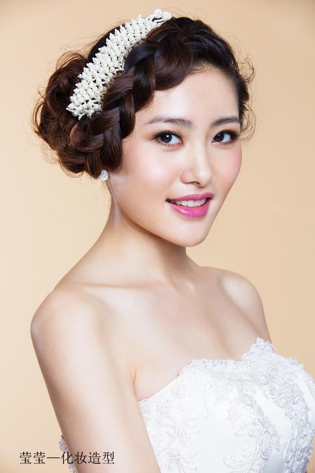 甜美新娘造型 可爱精灵_妆面赏析_影楼化妆_黑光网