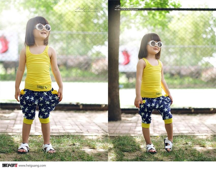 温宜公主儿童摄影黑光图库图片