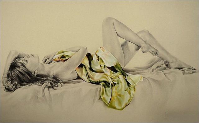 15幅精美的女性铅笔画设计欣赏