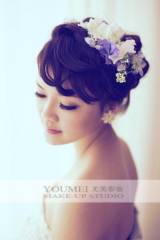 鲜花新娘造型 打造浪漫气息(2)_妆面赏析_影楼化妆_网图片