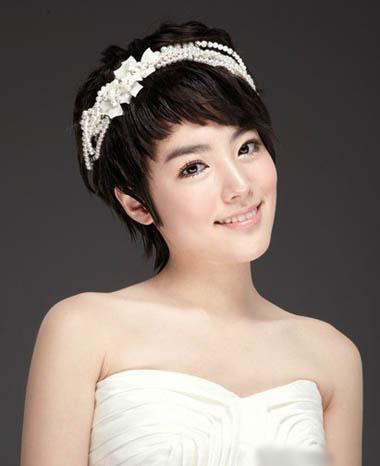短发新娘造型 闪耀你的青春_妆