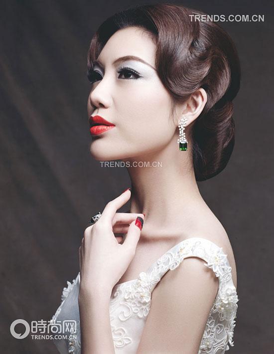 复古新娘美丽妆容 掀起妆容新风潮图片