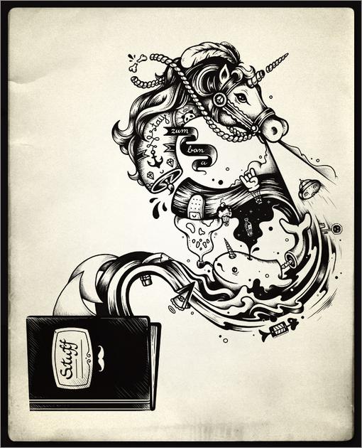 马其顿插画师enkel的超现实主义插画设计欣赏