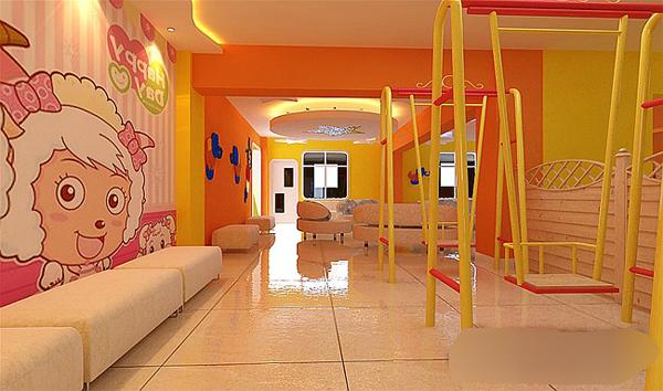 儿童摄影亲子园休闲区,色彩空间的装修设计