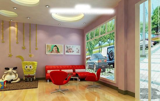 儿童影楼店面布局装修设计 高清图片
