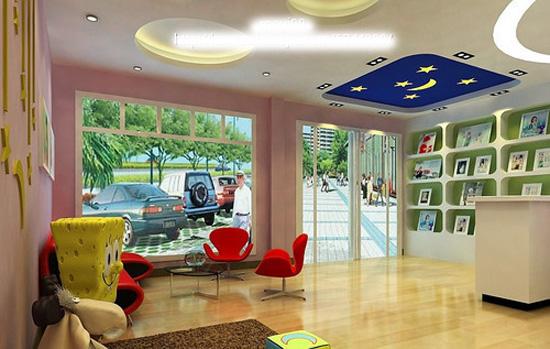影楼店面布局装修设计案例 影楼装饰效果图 儿童影楼门头