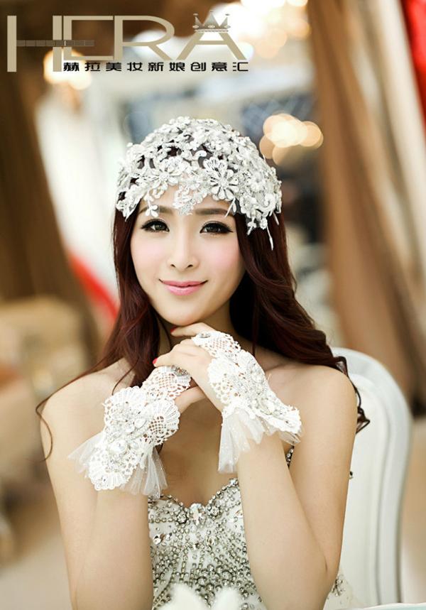 2013长发新娘复古造型 展现东方女子迷人韵味