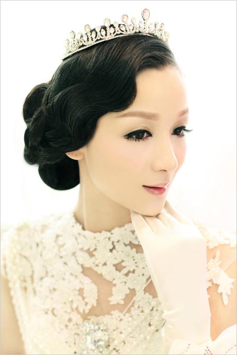 新娘复古造型图片,中式新娘复古发型图片,复古新娘发型,复古