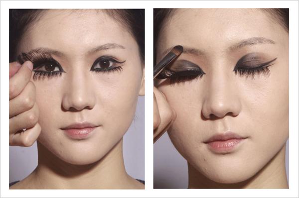 创意妆面步骤详情 教你如果把握眼睛与造型的整体塑造图片
