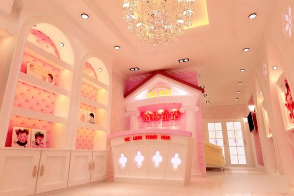 格林童话儿童影楼 粉嫩柔美的卡哇伊世界装修设计