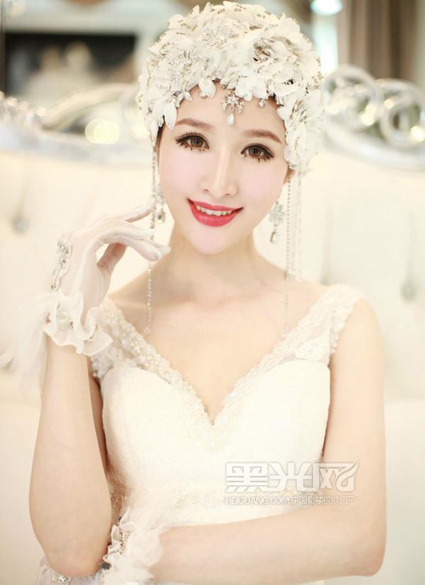 复古新娘造型 展现古典优雅风格(3)_妆面赏析_影楼