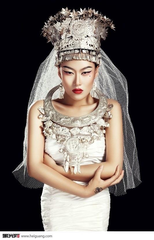 创意民族风 化妆造型图片