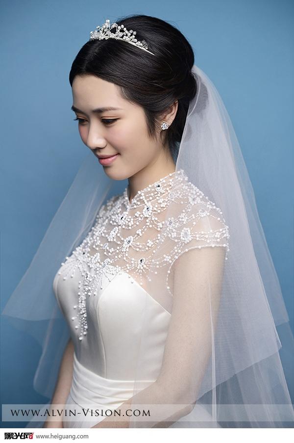 时尚新娘白纱造型图片