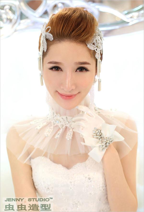 气质新娘造型 **新娘盘发