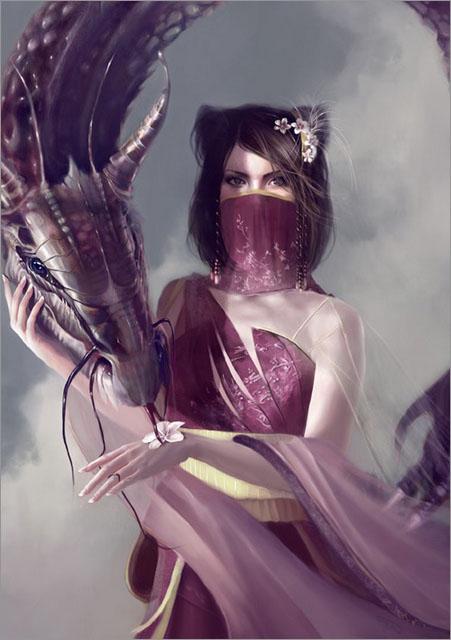 美艳性感的游戏美女角色插画作品设计欣赏