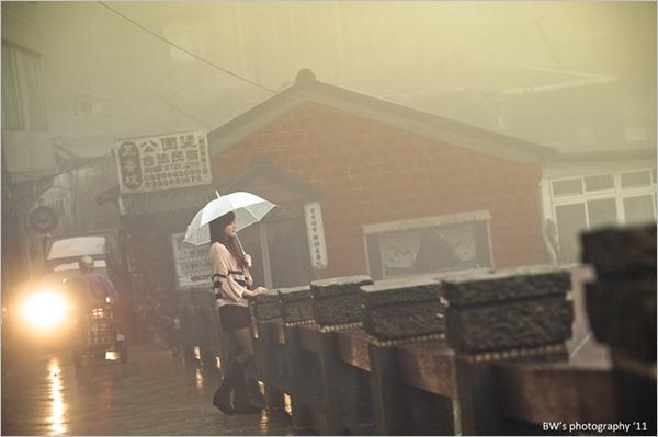 雨中人像摄影秘诀,借用光线营造迷人气氛