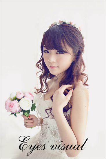 清纯甜美的新娘造型 如仙女般清新可人