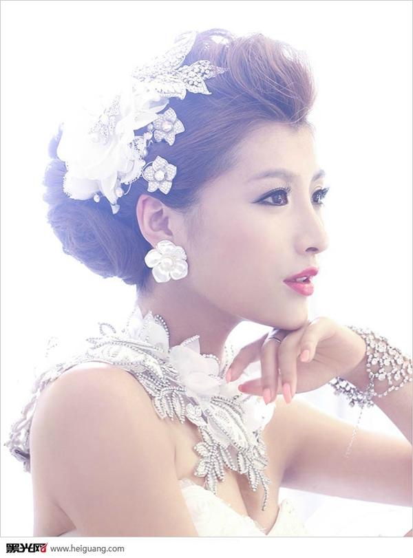 韩式新娘造型_化妆造型_黑光图库_黑光网