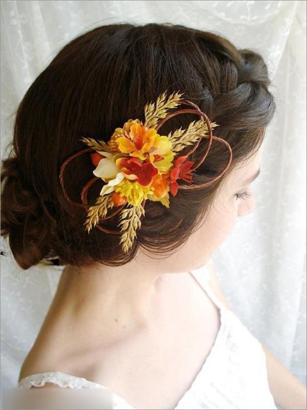 新娘妆 新娘造型 鲜花造型图片