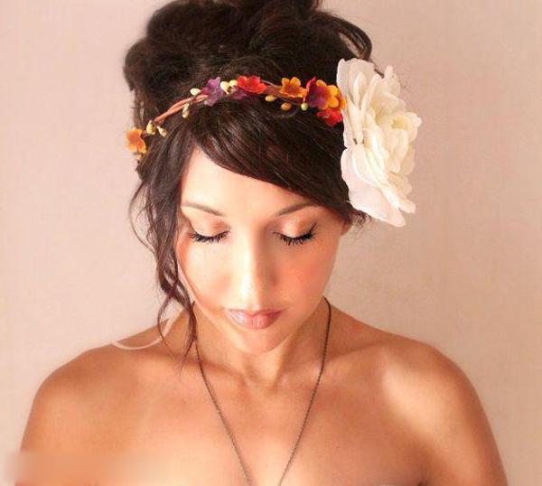 新娘妆 新娘造型 鲜花造型