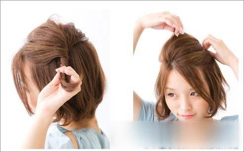 发型图解 短发编发