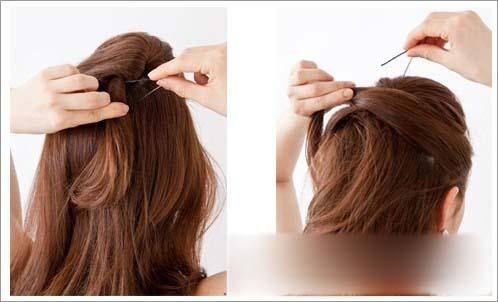 发型图解 长发编发