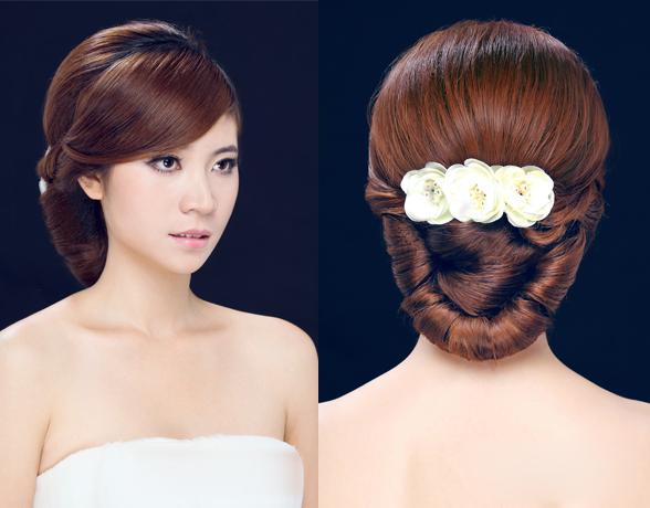 韩式新娘造型 发型步骤图解