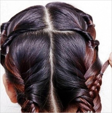 新娘造型 新娘发型步骤图解