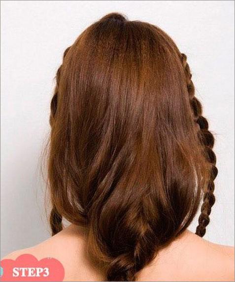而另外一侧的头发也按照同样的方法