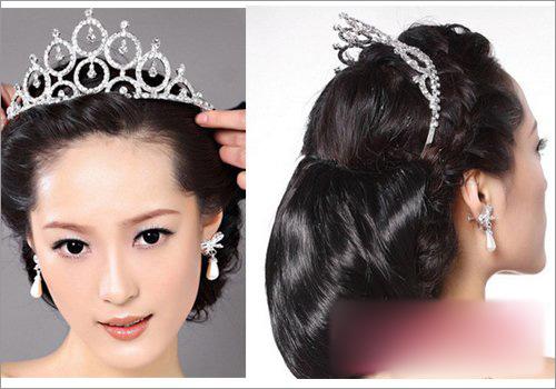 韩式新娘盘发步骤解析 塑造新娘温婉优雅形象图片