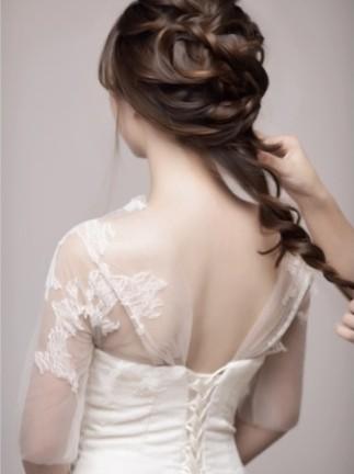 唯美新娘造型 花环式新娘编发 新娘发型步骤图解