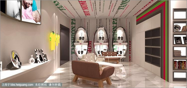 王梓婚纱影楼空间装修设计儿童影楼之辣妈潮爸亲子摄影