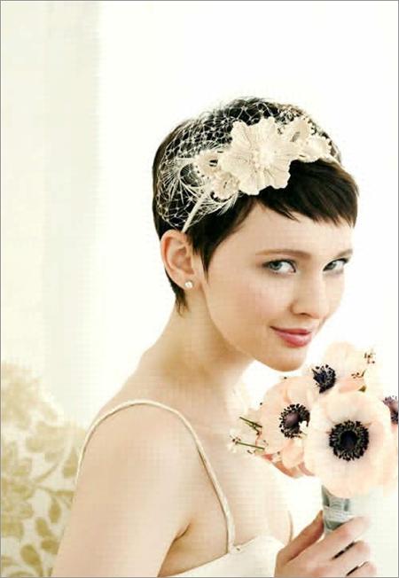 新娘造型 短发新娘发型