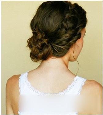 新娘发型 盘发步骤