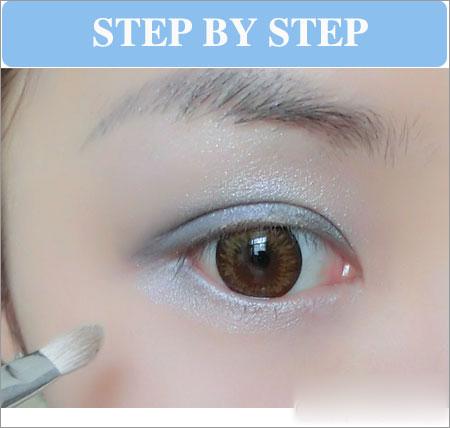 蓝色眼影化妆步骤 奢华冷艳夺人眼球