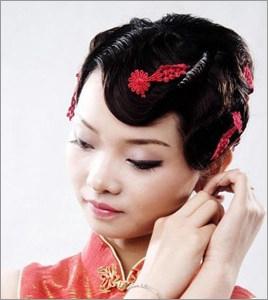 多变的传统中式新娘发型 哪款能赢得你的芳心(2)_妆面