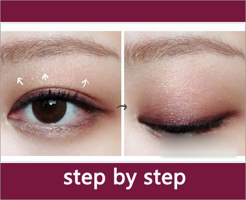 韩式眼妆教程图解 打造微醺迷人眼神