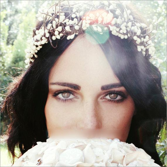 清新唯美新娘花环 让新娘变得仙气十足图片