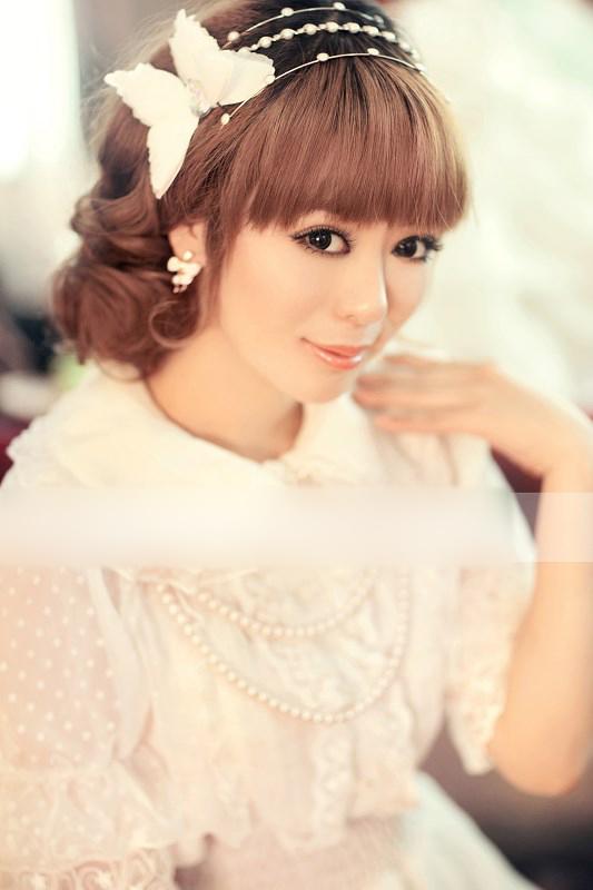 日系范美女新娘造型 变身甜美小萝莉