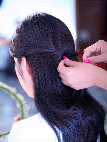 新娘发型 步骤图解 森女系
