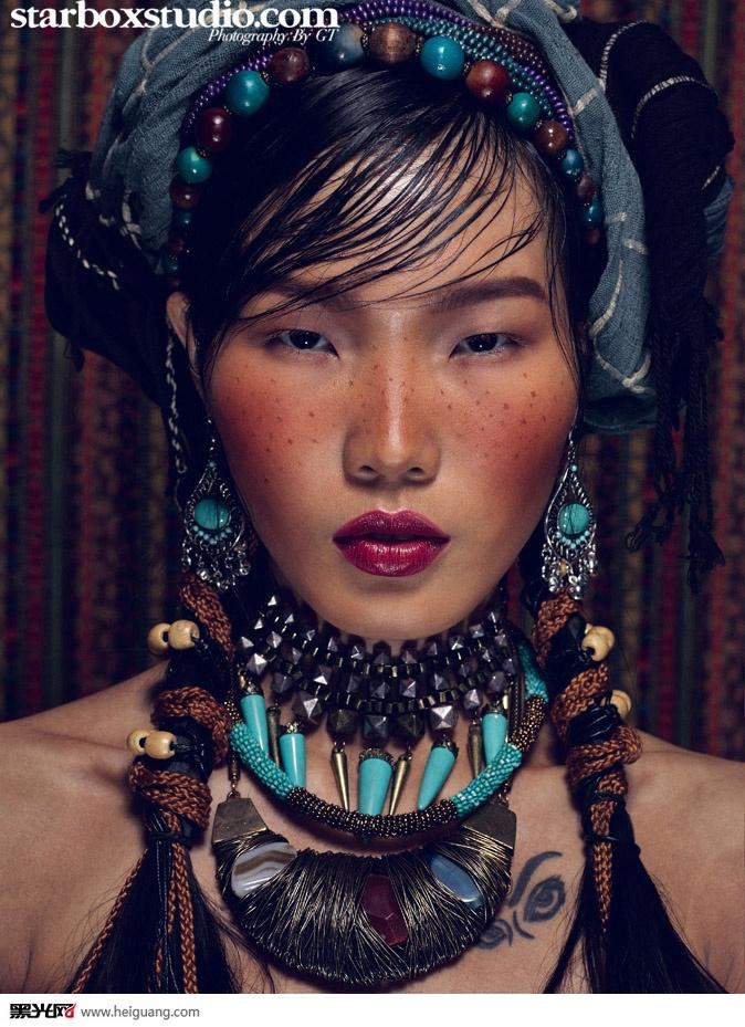 民族风化妆造型图片