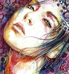 斑斓美女 插画图片