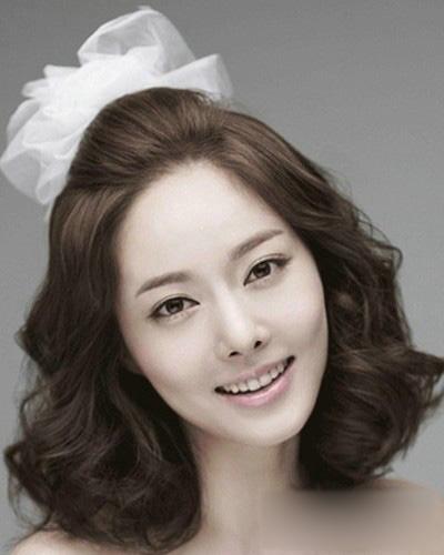 松韩式新娘发型