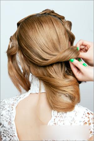 经典新娘造型 新娘发型步骤教程