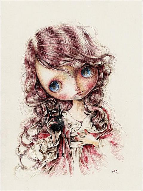 ania tomicka超现实主义风格肖像插画作品设计欣赏