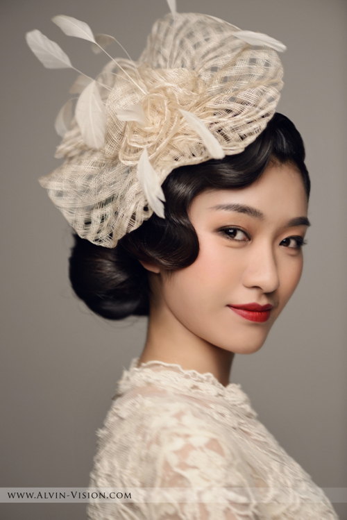 复古时尚新娘造型图片_时尚新娘造型图片